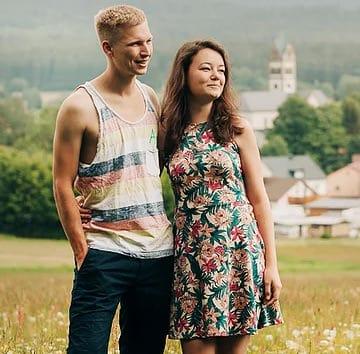 Steffi und Philipp von Tiny House Village