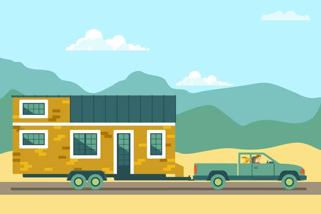 Tiny House gezogen auf eigener Achse